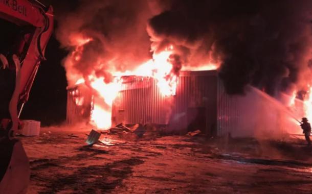 Fire destroys local business