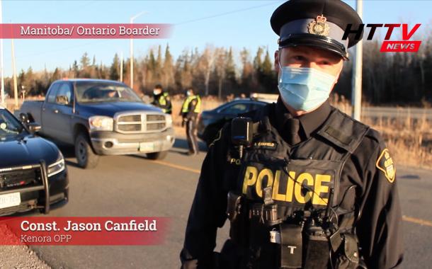 Manitoba Ontario border checkpoint